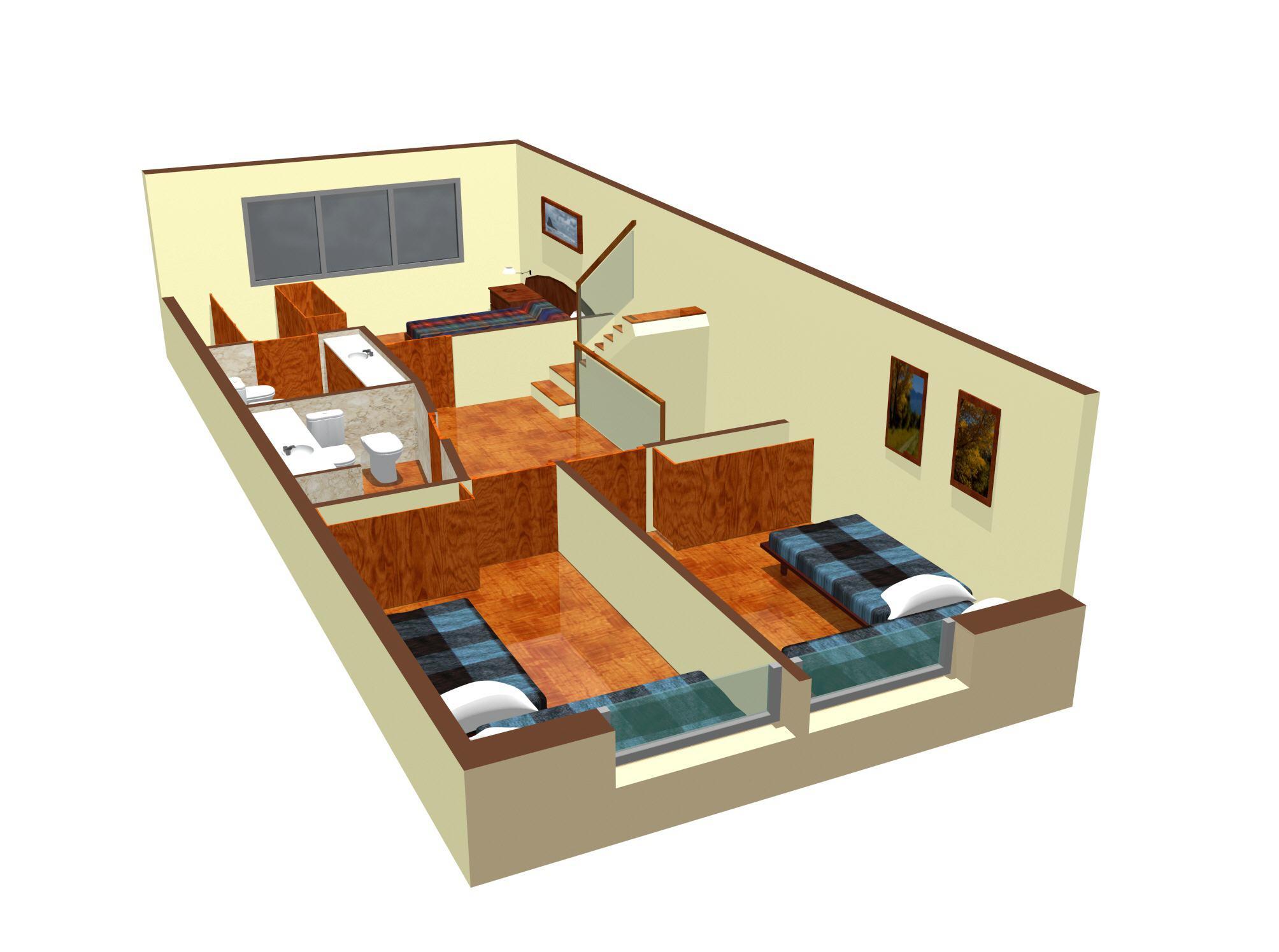 Baño Vestidor Planta:Suite con vestidor, dos dormitorios y baño